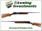 Browning A5 1959 Belgium made A5 20 Gauge VR