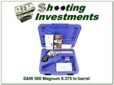 Smith & Wesson 500 Magnum 8 3/8in stainless in case