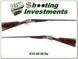 AYA No.2 20 Gauge 26in Exc Cond Serial Number 3