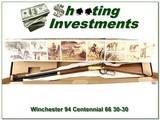 Winchester 94 Centennial 66 30-30 26in NIB