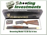 Browning Model 12 28 Ga nice wood ANIB