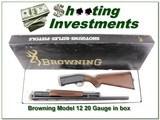 Browning Model 12 20 Ga nice wood ANIB