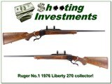 Ruger No.1 1976 Liberty 270 Winchester collector! - 1 of 4
