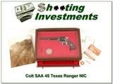 Colt SAA 45 7.5in Texas Ranger New in Display Case!