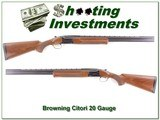 Browning Citori 20 Gauge 26in Invector barrel