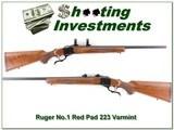 Ruger No.1 223 Remington Varmint Red Pad