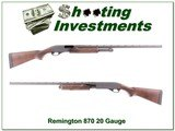 Remington 870 20 Gauge Exc Cond