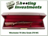Winchester Model 70 Ultra-Grade 270 NIB with case!