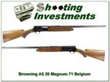 Browning A5 20 Magnum 71 Belgium collector!