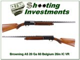 Browning A5 20 Ga 60 Belgium 26in IC VR