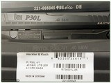 H&K Heckler & Koch P30 L-V1 Night Site Lite Trigger 40 S&W NIB - 4 of 4