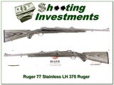 Ruger 77 Hawkeye LH 375 Ruger Stainless ANI