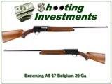 Browning A5 67 Belgium 20 Ga