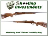 Weatherby Mark V Deluxe 7mm Wthy Mag as NEW!