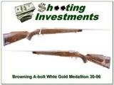 Browning A-bolt White Gold Medallion 30-06 - 1 of 4