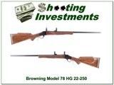 Browning Model 78 22-250 Rem Heavy Barrel like new