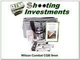 Wilson Combat CQB Compact Armor Tuff 9mm unfired! - 1 of 4