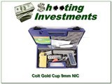 Colt Gold Cup Trophy 9mm unfired in case!