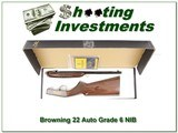 Browning 22 Auto Grade 6 VI Silver with gold NIB