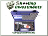Colt 1911 Government Model Series 80 9mm NIC
