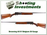 Browning A5 20 Gauge 61 Belgium 28in Mod