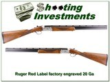 Ruger Red Label 20 Ga factory engraved and signed