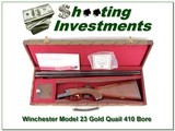 Winchester Model 23 Golden Quail in hard to find 410 Bore
