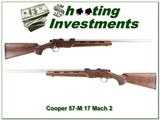 Cooper Model 57-M 17 Mach 2 Stainless varmint barrel