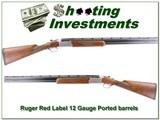 Ruger Red Label 12 Gauge 28 in Ported barrel tubes