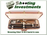 Browning Citori 12 & 20 Ga 2 barrel set in case - 1 of 4