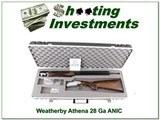 Weatherby Athena 28 Gauge unfired NIC!