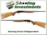 Browning 22 Auto 70 Belgium Blond Exc Cond!