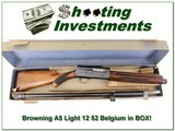 Browning A5 Light 12 52 Belgium IN BLUE BOX!
