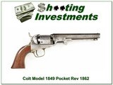 Colt Model 1849 Pocket Revolver made in 1862