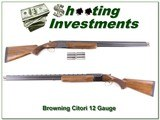 Browning Citori 12 Ga 30in with Briley tubes