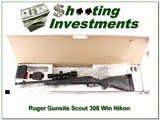 Ruger Gunsite Scout 308 Win w/ Nikon Encore in box