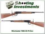 Winchester 1886 45-70 Extra Short Carbine as new!