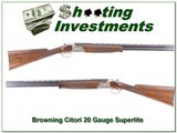 Browning Citori Superlight Feather 20 gauge as new!