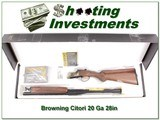 Browning Citori Limited Production Dekalb 20 Ga NIB