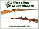 Weatherby Vanguard Deluxe XX Wood 270 Win