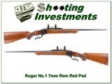 Ruger No.1 B Red Pad in 7mm Remington Magnum collector!
