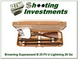 Browning Superposed B25 P3 Featherweight 20 Gauge 2 barrel set - 1 of 4