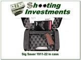 Sig Sauer 1911-22 22LR unfired in case - 1 of 4