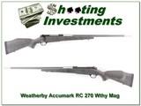 Weatherby Mark V Accumark RC 270 Wthy Magnum!