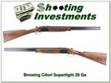 Browning Citori Superlight 20 Ga as new!