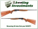 Browning 22 Auto RARE First Year Short Thumbwheel