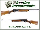 Browning A5 20 Ga 70 Belgium Honey Blond