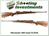 Winchester Model 70 1964 30-06 Exc Cond!