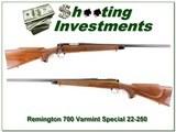 Remington 700 Varmit Special Pressed Checkering 22-250