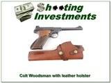 Colt 1949 Woodsman 22LR with holster